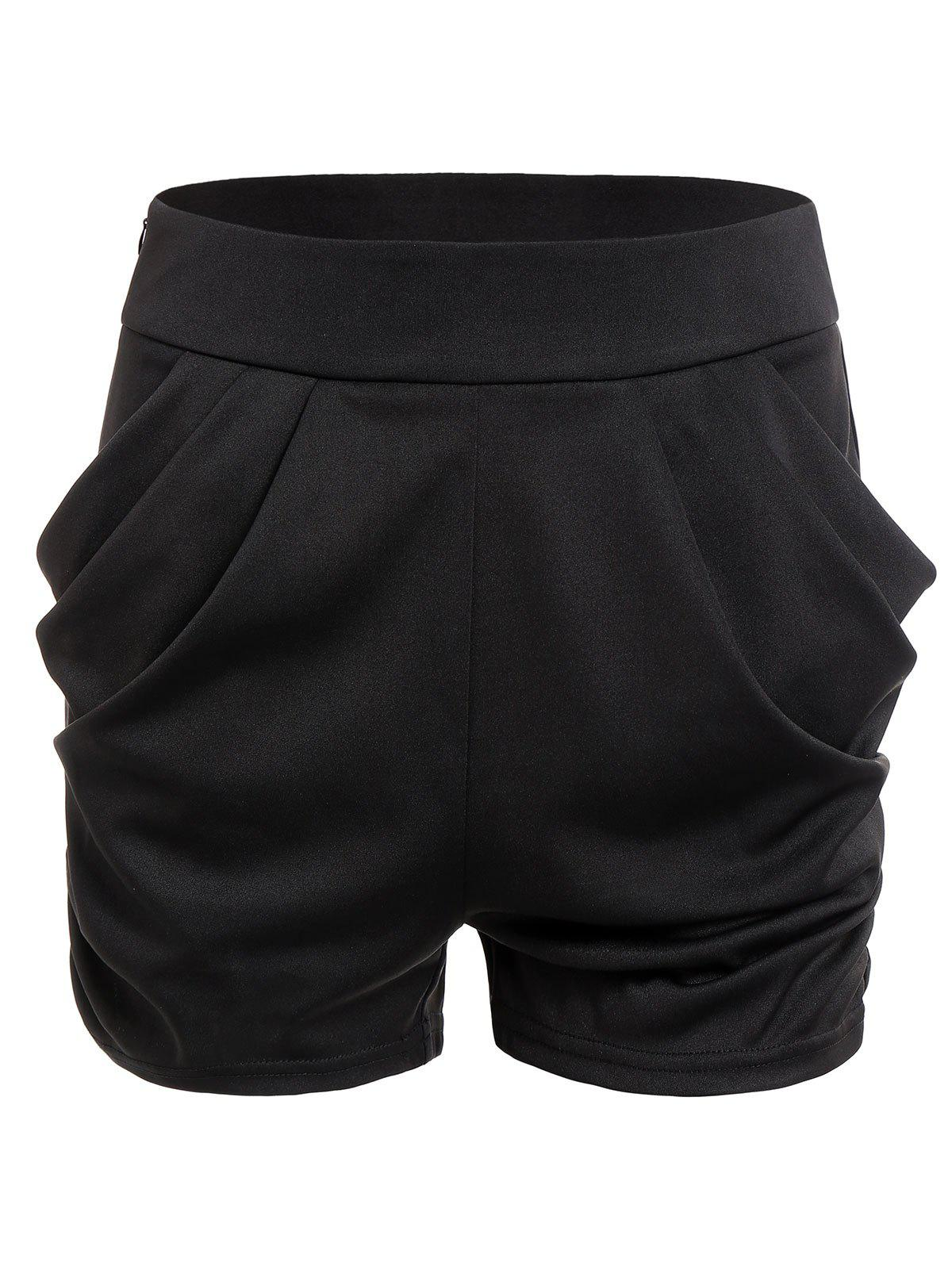 Shops Zippered Solid Shorts