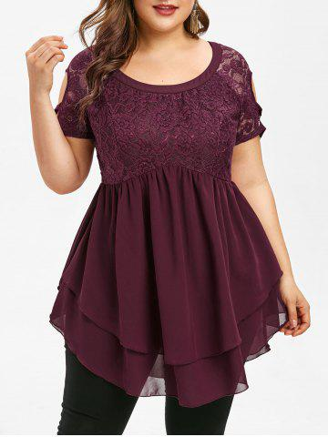 c7140f04300 2019 Plus Size Floral Embroidery Blouse