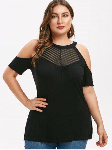Plus Size Cold Shoulder Tunic Tee