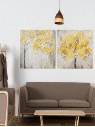 Maple Trees Print Unframed Split Canvas Paintings -