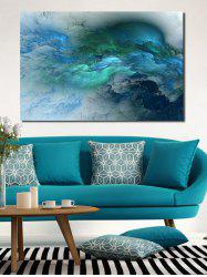 Abstract Print Unframed Canvas Painting -