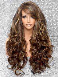 Side Bang Body Curly Long Synthetic Wig -
