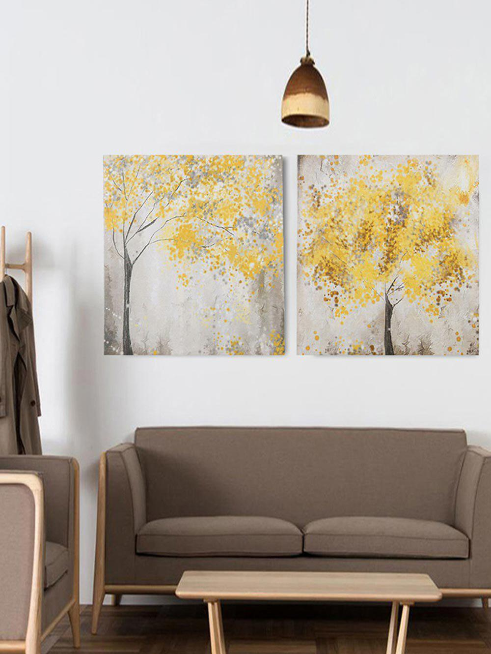 Fancy Maple Trees Print Unframed Split Canvas Paintings