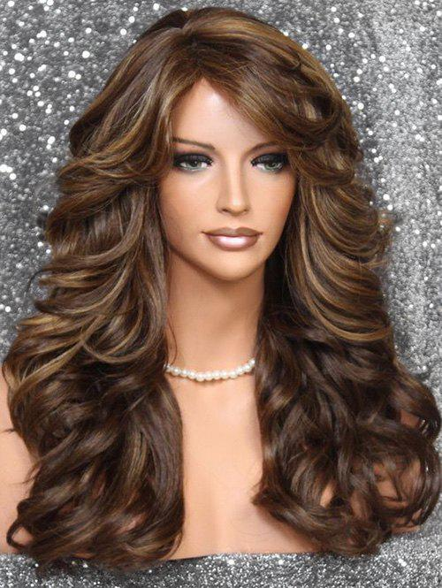 Online Side Bang Long Body Curly Synthetic Wig