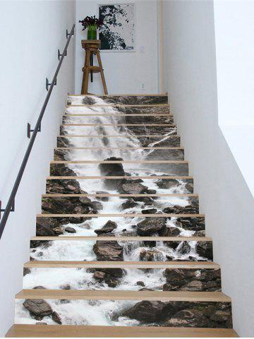 Waterfall Print Removable Stair Stickers