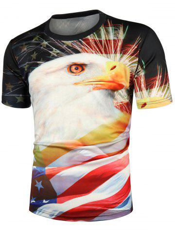 Eagle Pattern Casual T-shirt