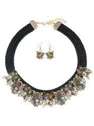 Rope Faux Gem Statement Jewelry Set -