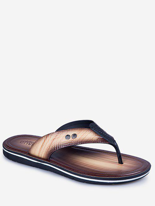 Outfits Faux Leather Flat Flip Flop