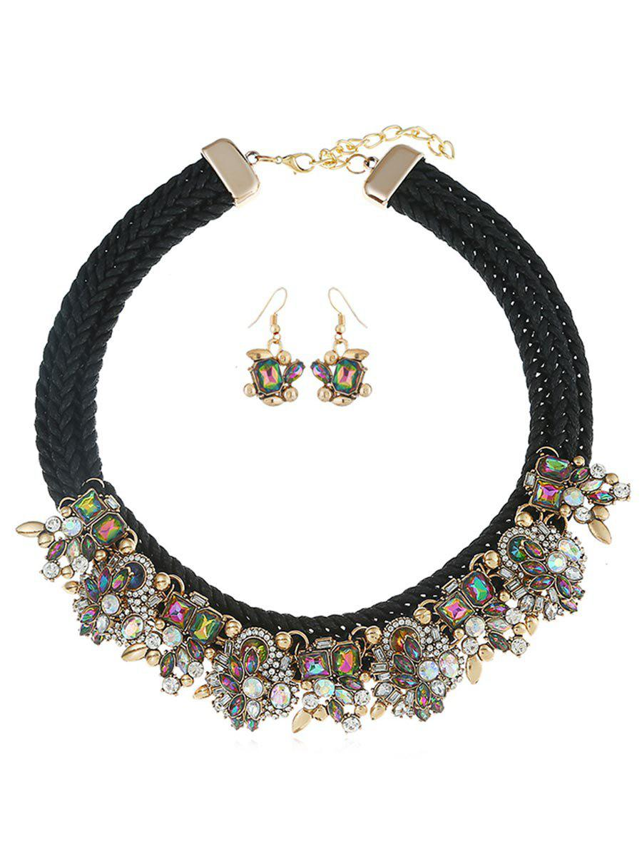 Latest Rope Faux Gem Statement Jewelry Set