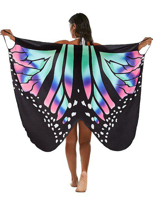 Butterfly Print Multi-way Саронг Cover Up Многоцветный S