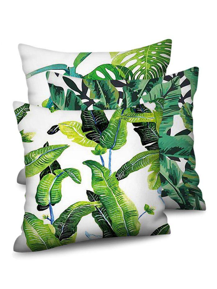 Store Leaf Pattern Printed Pillow Case Set