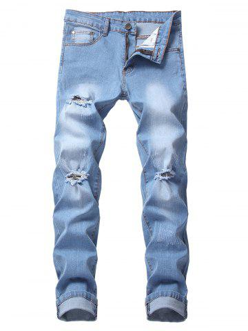 Casual Style Ripped Flanging Jeans