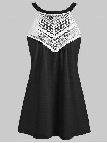 Round Neck Lace Panel Tank Top