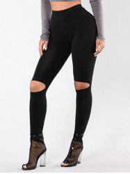Ripped High Waist Leggings -