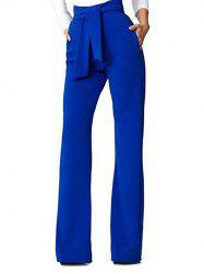 Belt Back Zip Wide Leg Pants -