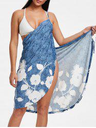 Wrap Flower Print Sarong Cover Up -