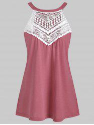 Round Neck Lace Panel Tank Top -