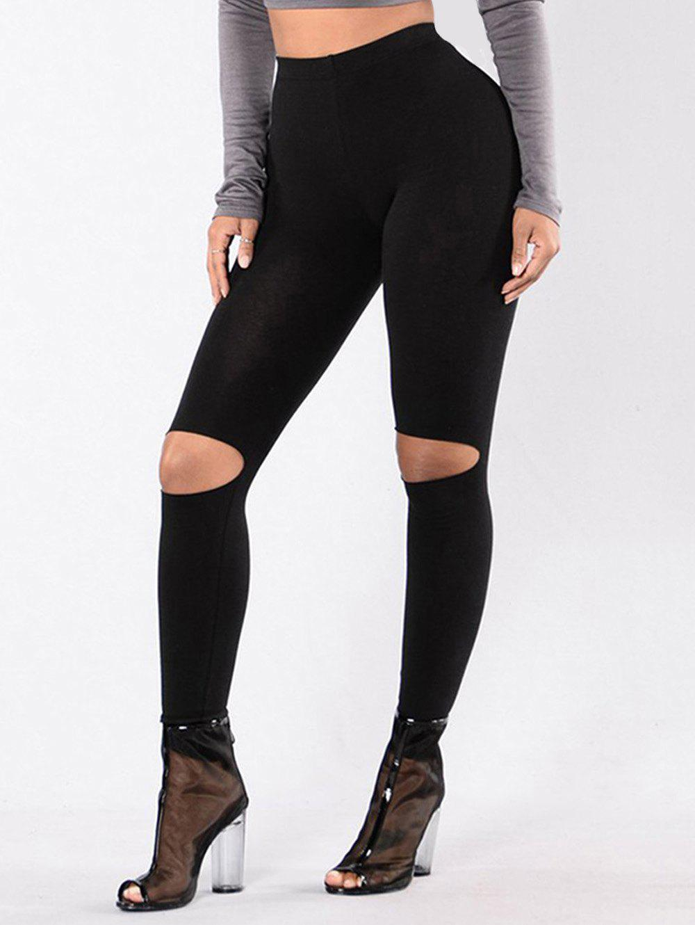 New Ripped High Waist Leggings
