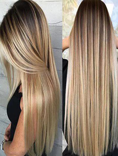 Shops Synthetic Long Straight Hair Ombre Heat Resistant Full Wigs