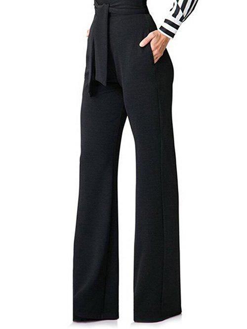 New Belt Back Zip Wide Leg Pants