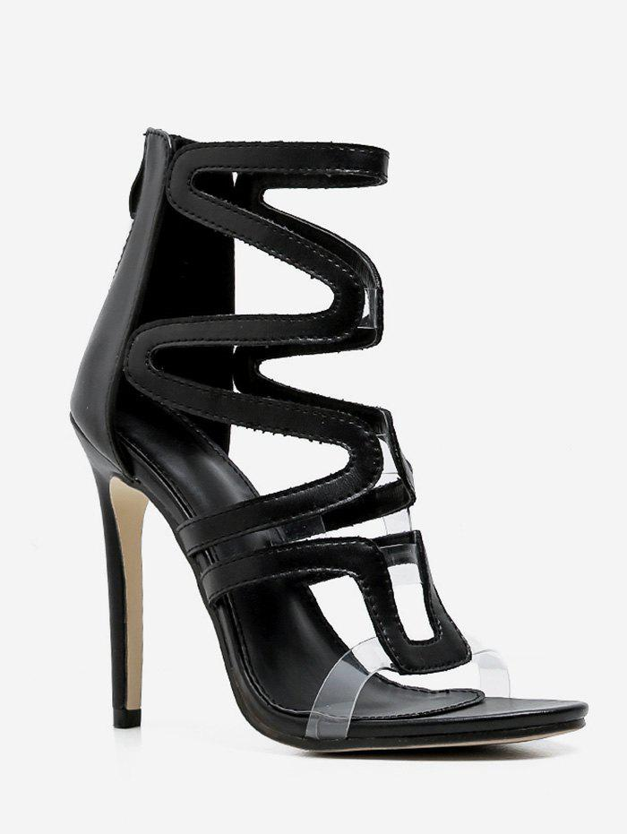 7ab1b6a210b Affordable High Heel Hollow Caged Sandals