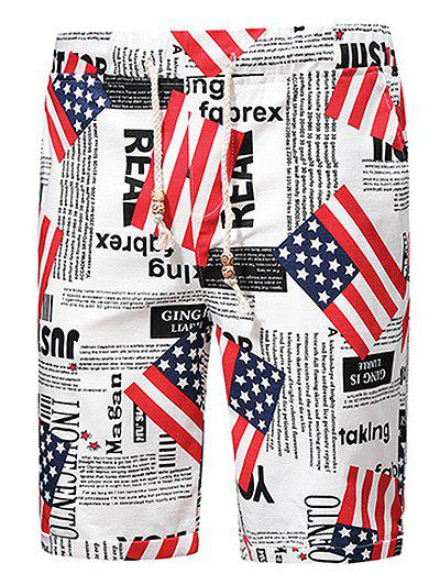 American Flag Graphic Board Shorts