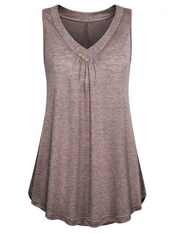 Plus Size Flare Button Tank Top