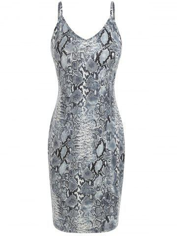 Animal Snake Print Bodycon Dress