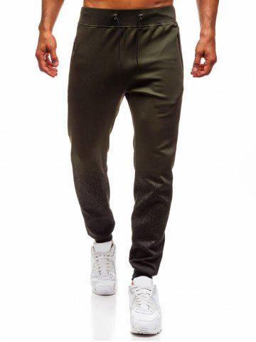 Zipper Pocket Contrast Jogger Pants