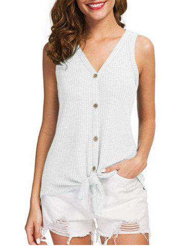 Button Up Bowknot Tank Top