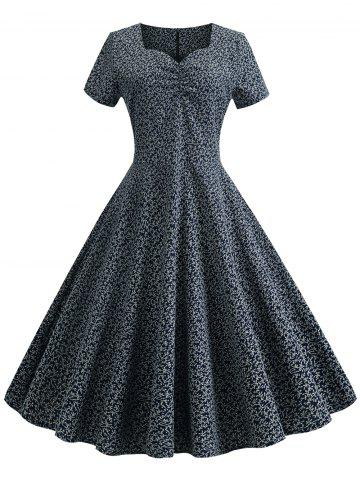 Printed Vintage Sweetheart Flare Dress