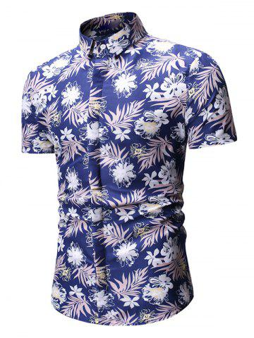 Floral Print Short Sleeve Casual Shirt