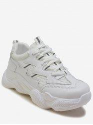 Mesh Trim Lace-up Running Sneakers -