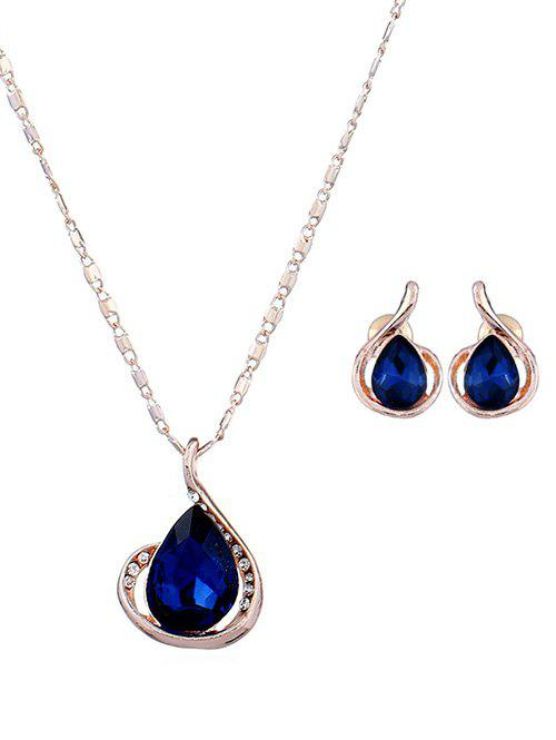 Outfit Faux Zircon Water Drop Jewelry Set