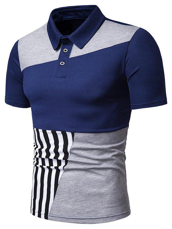 Outfit Stripe Print Contrast T-shirt