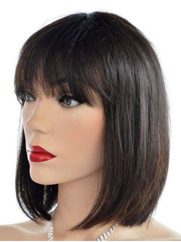 See-through Bang Short Straight Synthetic Wig