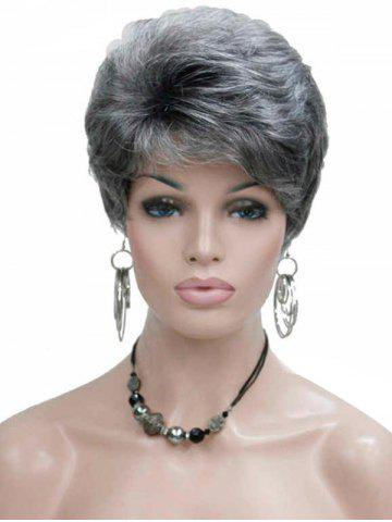 Short Side Bang Fluffy Natural Straight Synthetic Wig