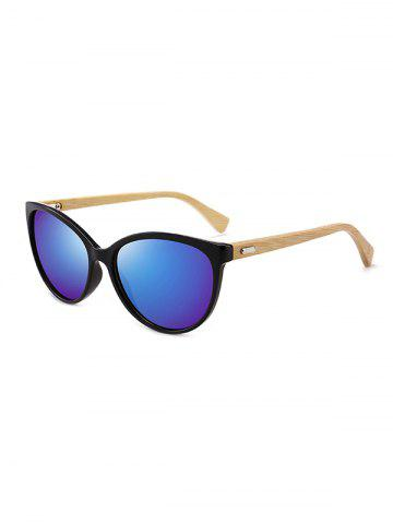 Kitty Eye Bamboo Leg Sunglasses