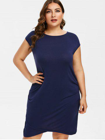 Plus Size Ruched T-shirt Dress