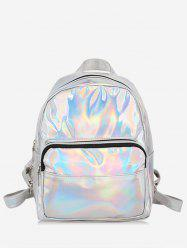 Mini Glossy Laser Chic Style Soft Backpack -