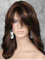 Fluffy Side Bang Straight Long Synthetic Wig -