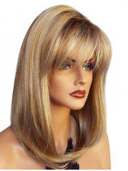 See-through Bang Long Straight Natural Synthetic Wig -