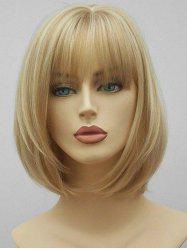 See-through Bang Short Straight Synthetic Hair -