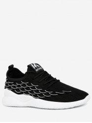 Fish Scale Knit Mesh Running Sneakers -