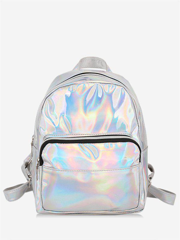 Outfit Mini Glossy Laser Chic Style Soft Backpack