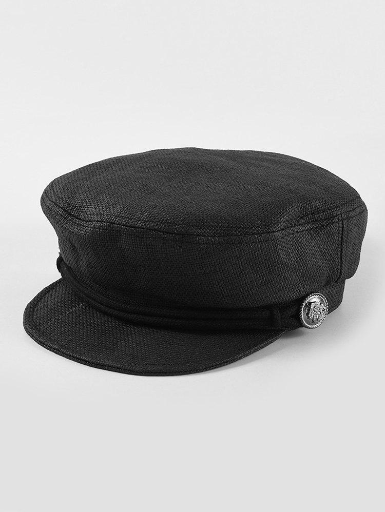 Rope Button Straw Cadet Cap