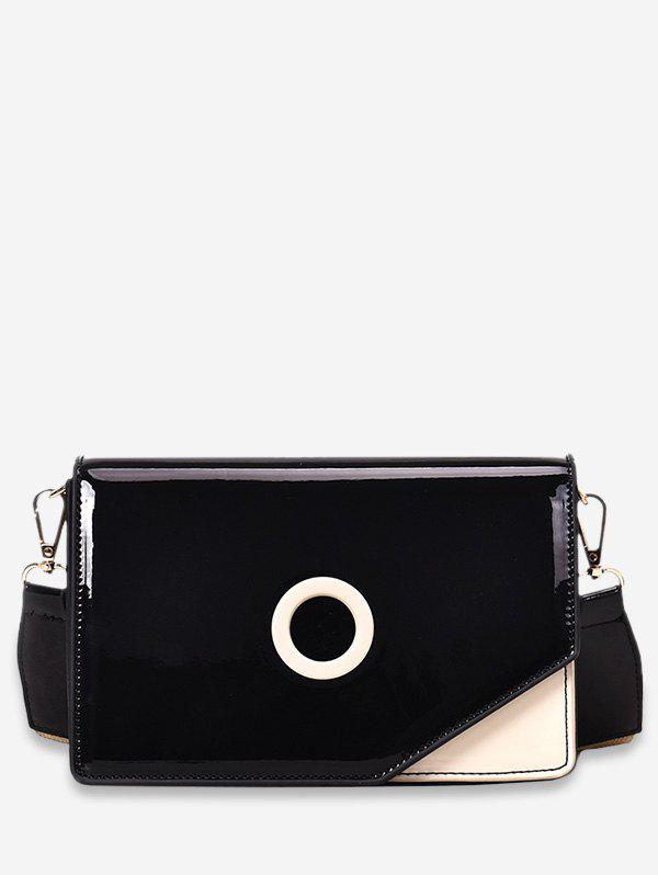 Buy Color Spliced Decoration PU Crossbody Bag