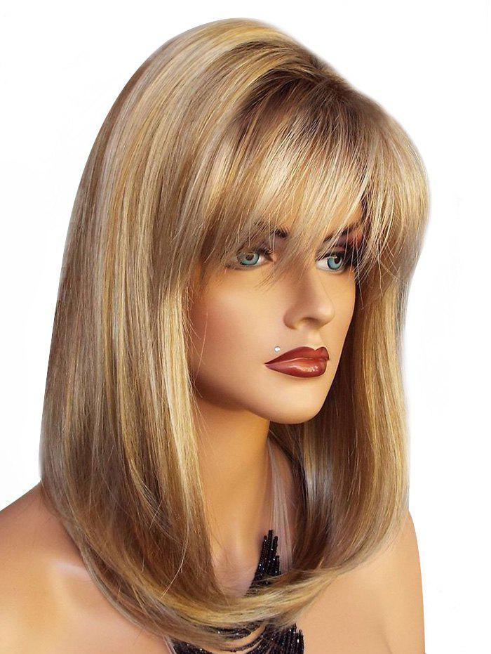 Shops See-through Bang Long Straight Natural Synthetic Wig
