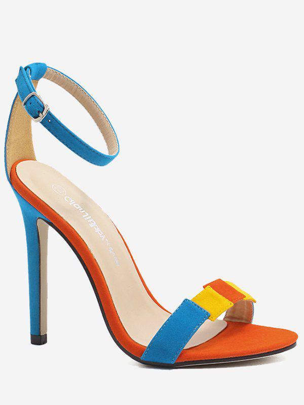 bd4cacfc969e Color Block Super High Heel Sandals - Eu 39