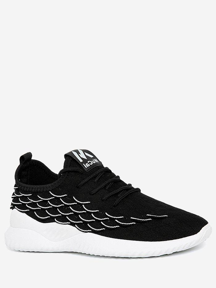 Outfits Fish Scale Knit Mesh Running Sneakers